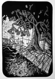 Nuevos Mundos/New Worlds Linoleum block print $60