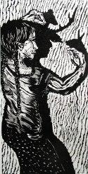Shadow Talk Wood block print $40